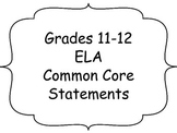 "11-12 Common Core ""I Can"" Statements"