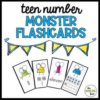 11-19 Teen Number Monster Flashcards