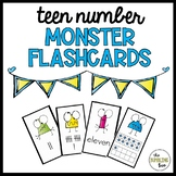 11-19 Teen Number Monster Flashcards