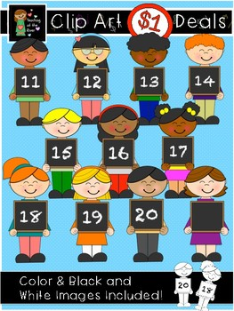 11-20 Chalkboard Teen Number Kids Dollar Deal $1!