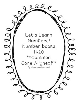 11-20 Number Books Common Core!