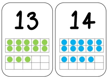 11-20 Number Cards with Ten Frames!