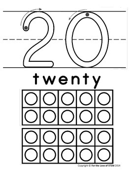 11-20 Number Mats with Ten Frames (play dough, tracing, and more)