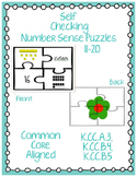 11-20 Number Sense Puzzles Self Checking