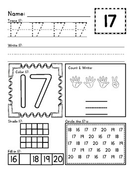 11-20 Number and Counting Activity Sheets