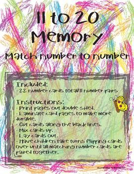 11-20 Numbers Memory
