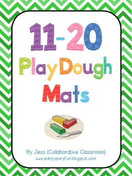 11 - 20 Playdough Mats