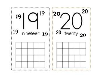 11-20 'Teen' Numbers Mats (Tens-Frames)