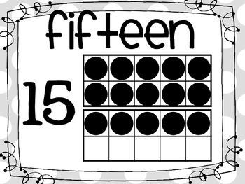 11-20 Ten Frame Anchor Charts
