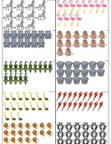 11-20 zoo animal matching cards