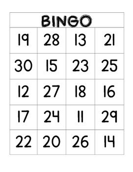 11-30 Bingo