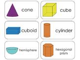 11 3D Shapes Beginning Stages Flashcards. Preschool-1st Grade