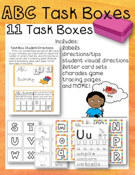 The Special Education Charade >> 11 Abc Task Boxes Alphabet Game Special Education Autism Upper
