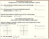 """11 Algebra 2 """"Exponential Functions"""" Chapter Tests and Qui"""