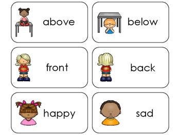 11 Antonyms Beginning Stages Flashcards. Preschool-1st Grade