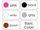 11 Basic Colors Beginning Stages Flashcards. Preschool-1st Grade