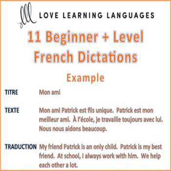 11 Beginner Plus French Dictées