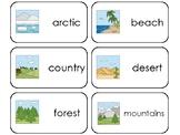 11 Biomes Printable Flashcards. Preschool-3rd Grade