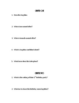 11 Birthdays by Wendy Mass Comprehension Questions