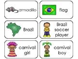 11 Brazil Printable Flashcards. Preschool-3rd Grade