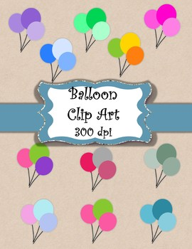 11 Bundles of Balloons - Clip Art