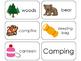 11 Camping Beginning Stages Flashcards. Preschool-1st Grade