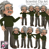 11 Cartoon Scientist Clip Art for Teachers, Perfect for Sc