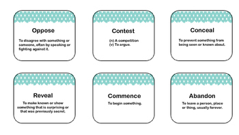 11 + Challenge Word Cards