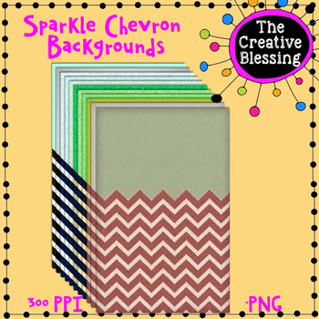 11 Sparkle Chevron Background Papers