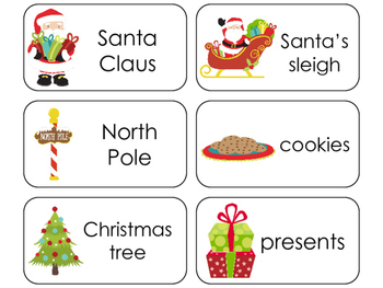 11 Christmas Beginning Stages Flashcards. Preschool-1st Grade