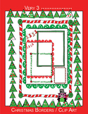 11 Christmas Borders - letter sized