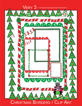 11 Christmas Borders - letter sized