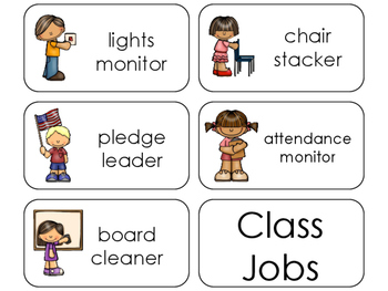 11 Class Jobs Beginning Stages Flashcards. Preschool-1st Grade