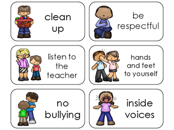 11 Class Rules Beginning Stages Flashcards. Preschool-1st Grade