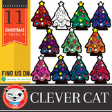 11 Clip Art Set: Christmas Trees (by The Clever Cat)