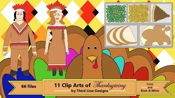 11 Clip Arts of Thanksgiving