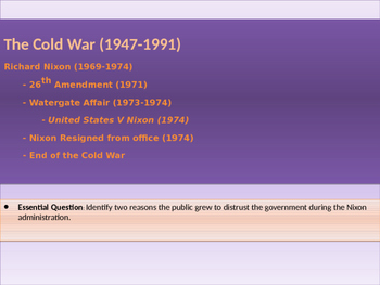 11. Cold War - Lesson 7 - Watergate