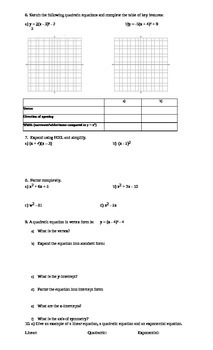 11 College Mathematics Culminating Activity/Exam Review (version 3)