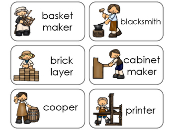 11 Colonial Jobs Beginning Stages Flashcards. Preschool-1st Grade