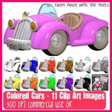 11 Color Cars Clip Art Images - Clipart for Teachers