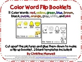11 Color Word Flip Up Booklets