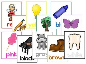 11 Colors Printable Posters/Anchor Charts. Preschool-Kindergarten Class Posters.