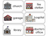 11 Community Buildings Beginning Stages Flashcards. Presch