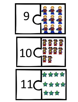 1:1 Correspondence with the numbers 6-20--Quantity to number match