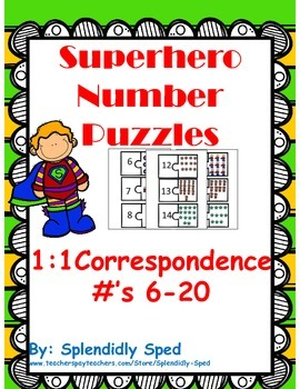 1:1 Correspondence with the numbers 6-20--Quantity to numb