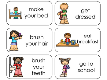 11 Daily Routines Beginning Stages Flashcards. Preschool-1