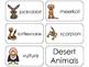 11 Desert Animals Beginning Stages Flashcards. Preschool-1st Grade