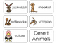 11 Desert Animals Beginning Stages Flashcards. Preschool-1