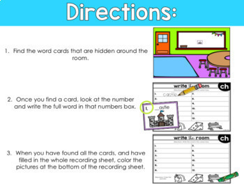 11 Digraph Write The Room Activities Ch Sh Th Wh