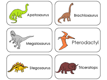 11 Dinosaurs Beginning Stages Flashcards. Preschool-1st Grade